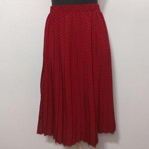 Hi There from Karen Walker Burgundy Pleated Skirt